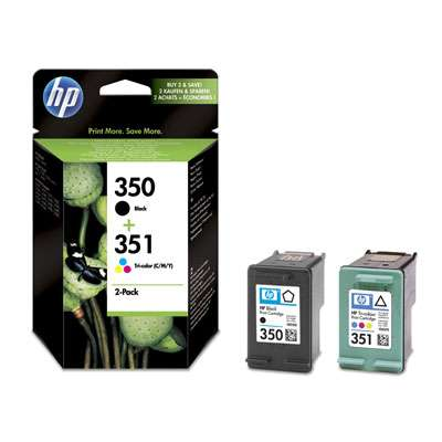 Multipack HP 350, HP 351 SD412EE schwarz, farbig