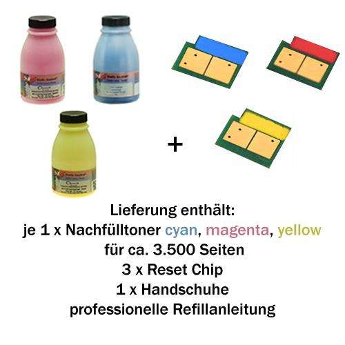 Refill-Set für HP Color LaserJet 2700/3000/3600 cyan,magenta,yellow